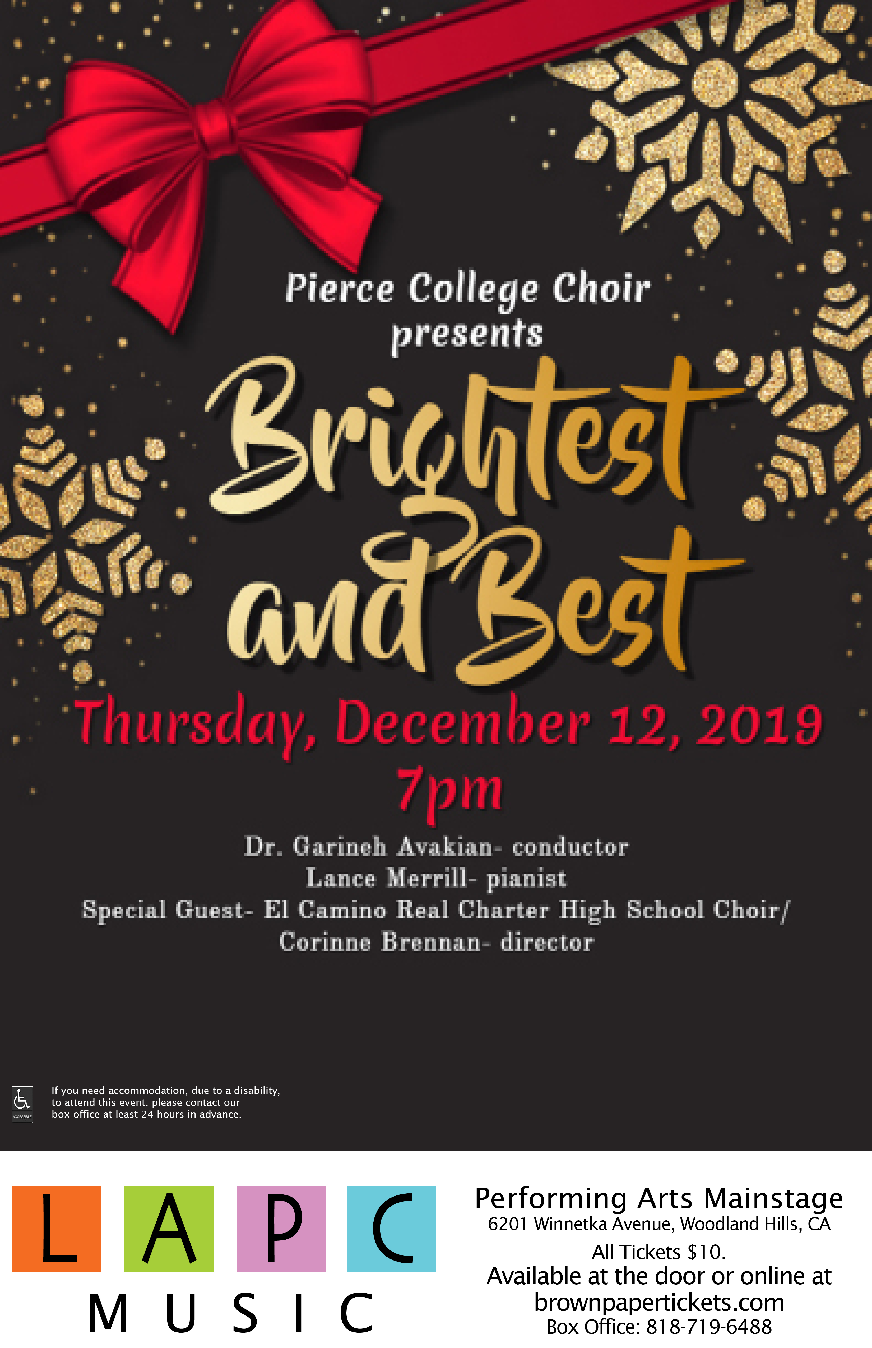 Holiday Choir Concert 2018 Poster